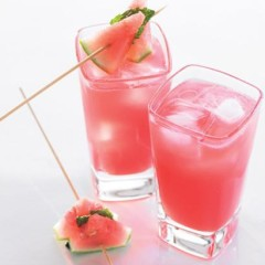 Watermelon and rum cooler