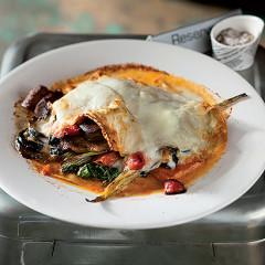 Winter vegetable open lasagne