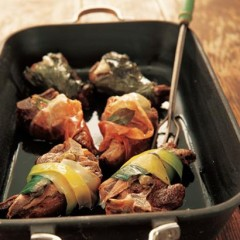Wrapped double-cut mediterranean lamb chops