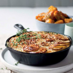 Braised butternut with sweet potato bake