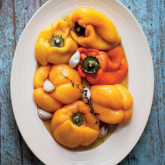 Roast yellow peppers