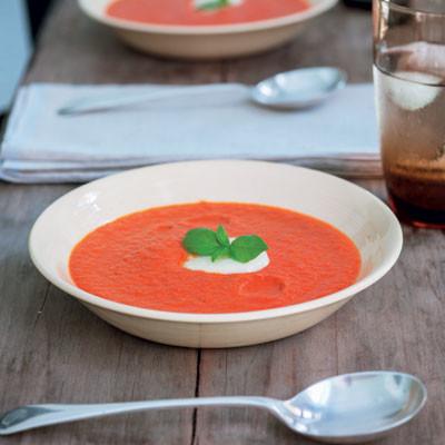 Sweet paprika soup