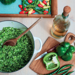 Hot green pepper relish