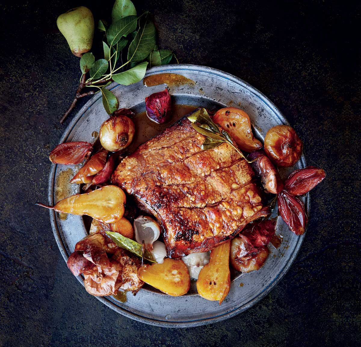 Italian Styled Pork Belly Roasted With Verjuice And Pears Woolworths Taste