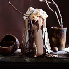 Toasted coconut marshmallow hot chocolate
