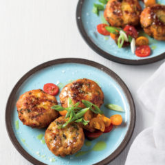 Chilli-and-chive salmon fish cakes
