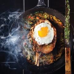 Sunny-side steak