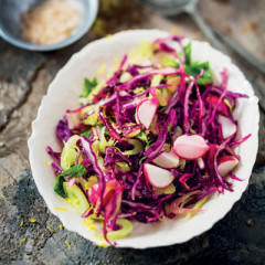 Fennel and purple cabbage slaw
