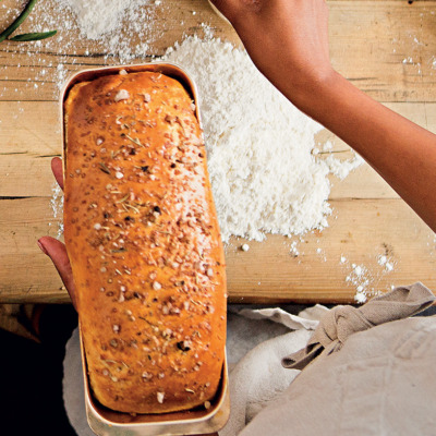 Buttermilk, honey and smoked salt bread