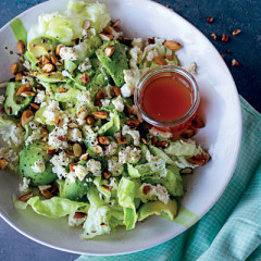 Feta, toasted almond and avocado salad
