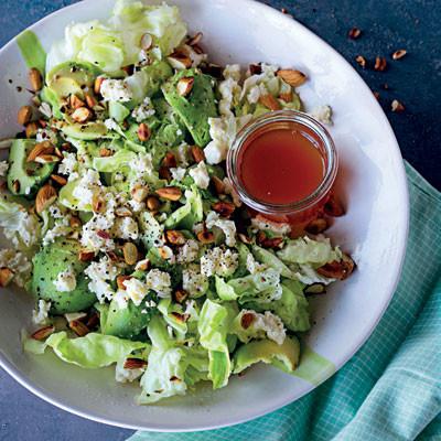 Feta, toasted almond and avocado salad | Woolworths TASTE