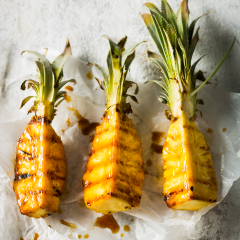 Grilled sticky pineapple