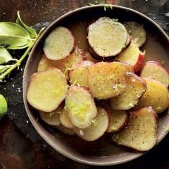 Lemon and sweet potato bake