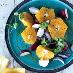 Orange, radish and coriander salad