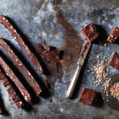 Salted chocolate-cinnamon fudge