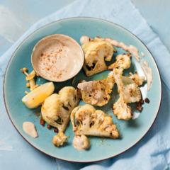 Middle-Eastern roasted cauliflower with tahini