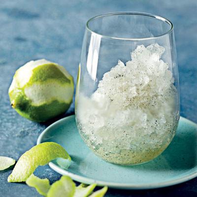 Lemon-and-vanilla granita