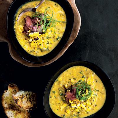 Braaied corn soup