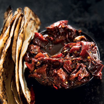 Chunky red pepper and tomato chutney