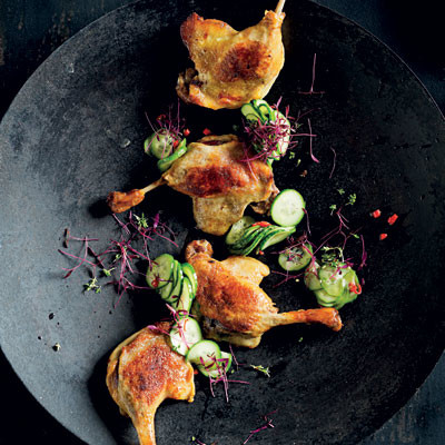 Easy Confit duck with Asian cucumber slaw