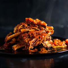 Slow-cooked shortrib ragu
