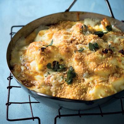 Cauliflower and blue cheese bake