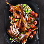 Asian duck with bulgur wheat and red quinoa salad