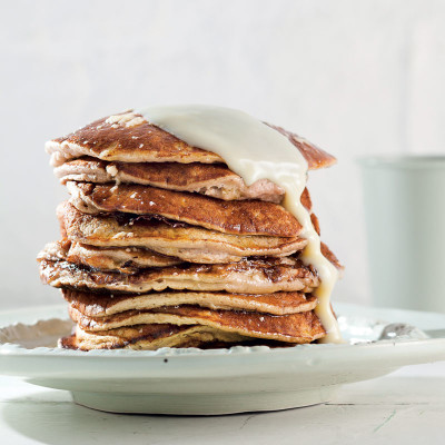 Banana-and-egg flapjacks