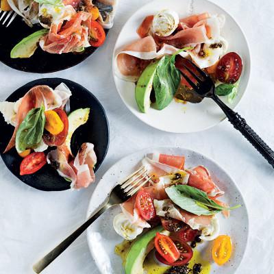 Exotic tomato-and-mozzarella salad