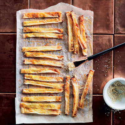 Phyllo cheese strips