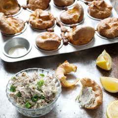 Smoked mackerel pate with baby yorkshire puddings