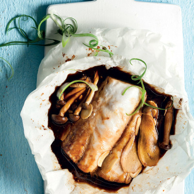 Soya-and-ginger hake
