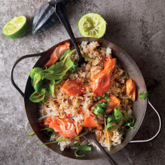 Loadshedding rice with seared trout