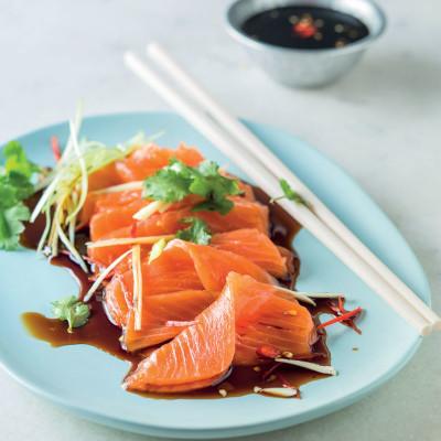 Asian-dressed sashimi