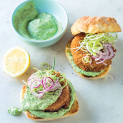 Asian-style fish burgers