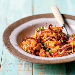 Calamari, chorizo and tomato rice