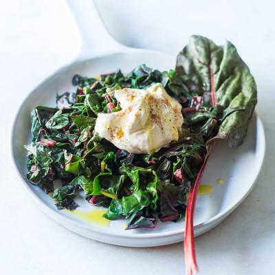 Crème fraîche spinach