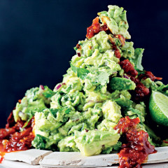 Guacamole and adobo sauce