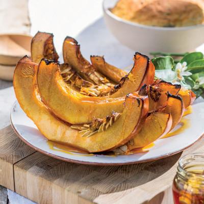 Honey-and-orange roasted pumpkin
