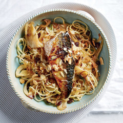 Sicilian-style pasta with grilled mackerel