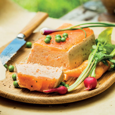 Smoked salmon-and-trout terrine