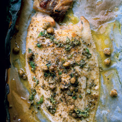 Sole with burnt butter, nori and fried capers