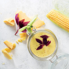 Sweetcorn-and-Gruyère soup