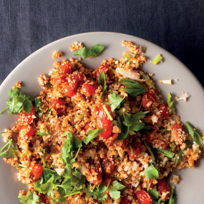 """Spicy no-carb tomato """"tabbouleh"""""""