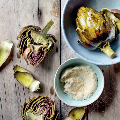 Artichokes with Parmesan mayonnaise