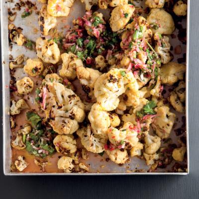 Roast cauliflower with chimichurri