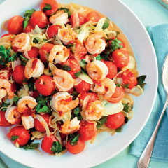 Bill's prawn, fennel and watermelon salad with chilli dressing