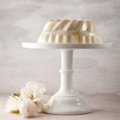 Badam (almond) rose-and-coconut milk jelly