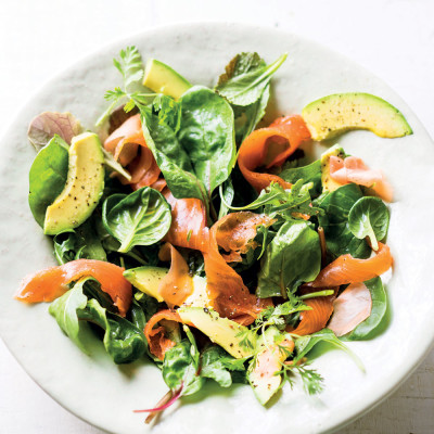 Asian-style smoked trout salad