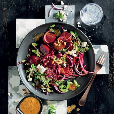 Beetroot-and-feta salad